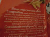 Frolic au boeuf aux carottes et aux cereales - Nutrition facts