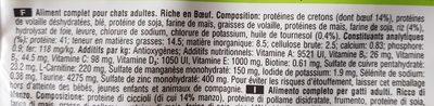 Croquettes Adult 1+ Chats stérilisés Bœuf - Ingrédients