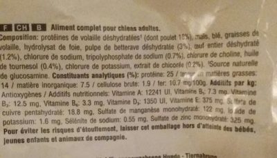 Croquettes Adult 1+ >10kg - Ingredients