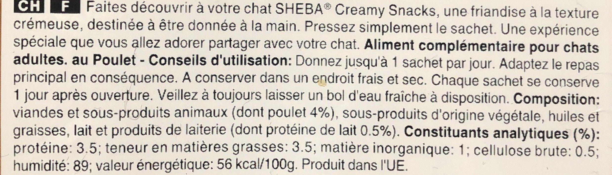 Creamy Snacks - Poulet - Ingredients - fr