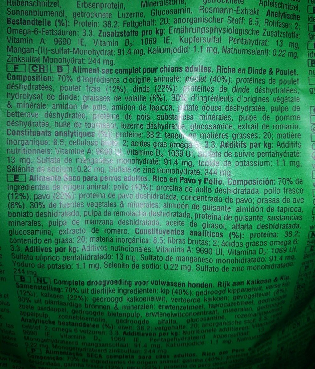 Nutro feed clean wild frontières - Ingredients - fr