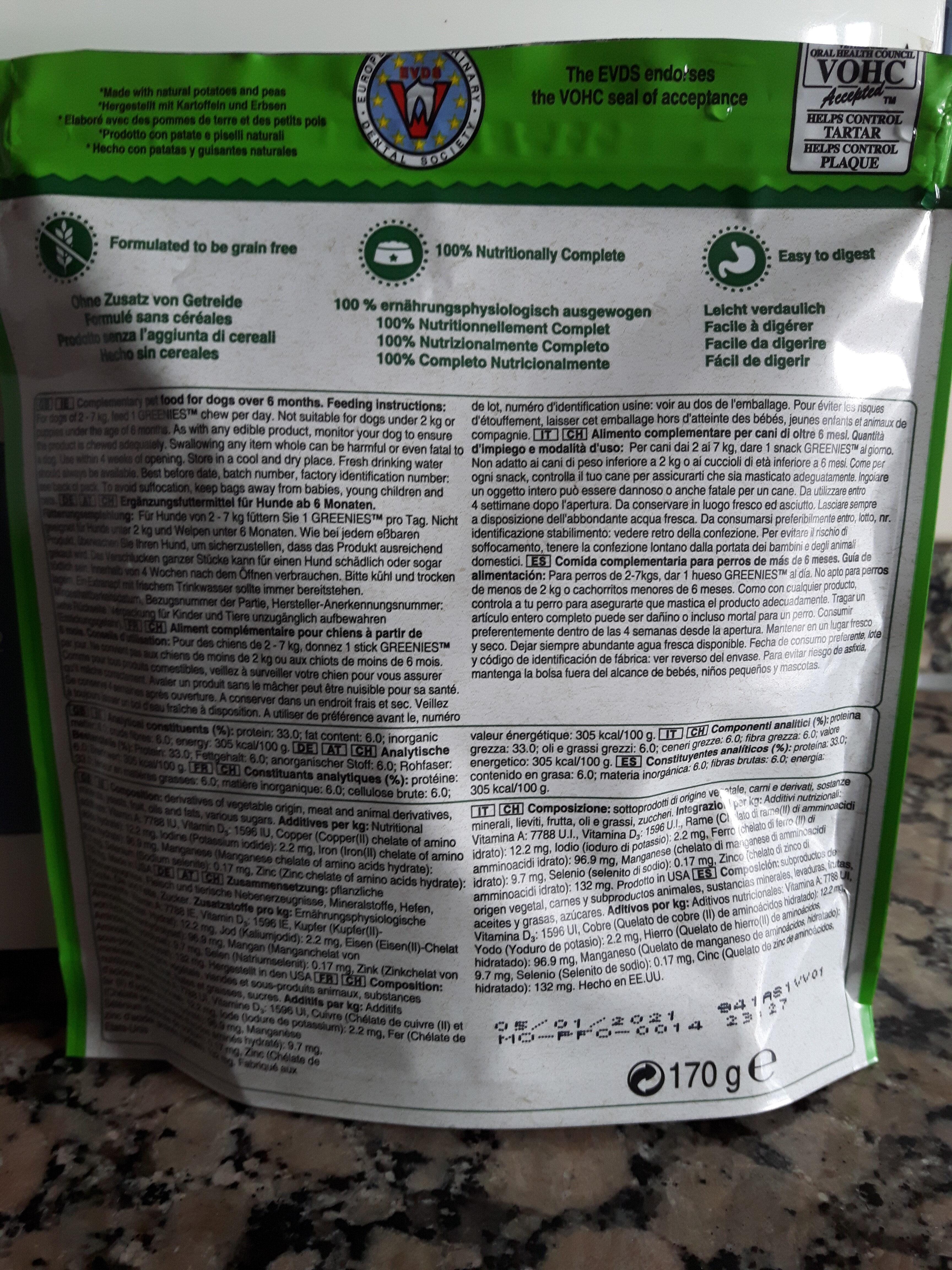 Greenies Dental Treats - Ingredients - es