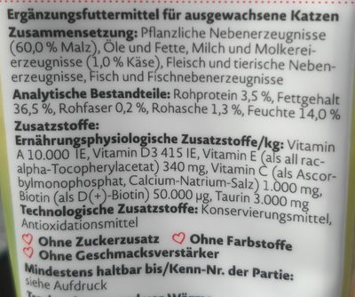 Malzpaste mit Käse - Ingredients
