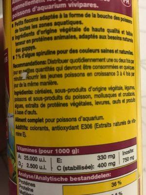 JBL Novoguppy Nourriture Spécifique Pour Les Guppys - Nutrition facts