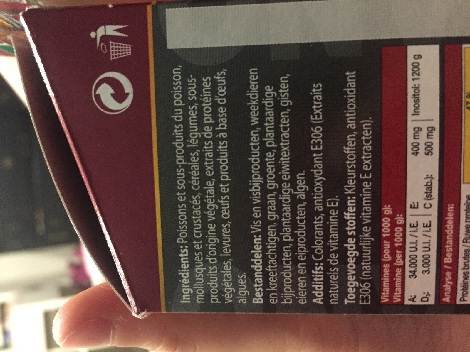 JBL Nanobetta 60 ML Aliment Pour Combattants - Ingredients