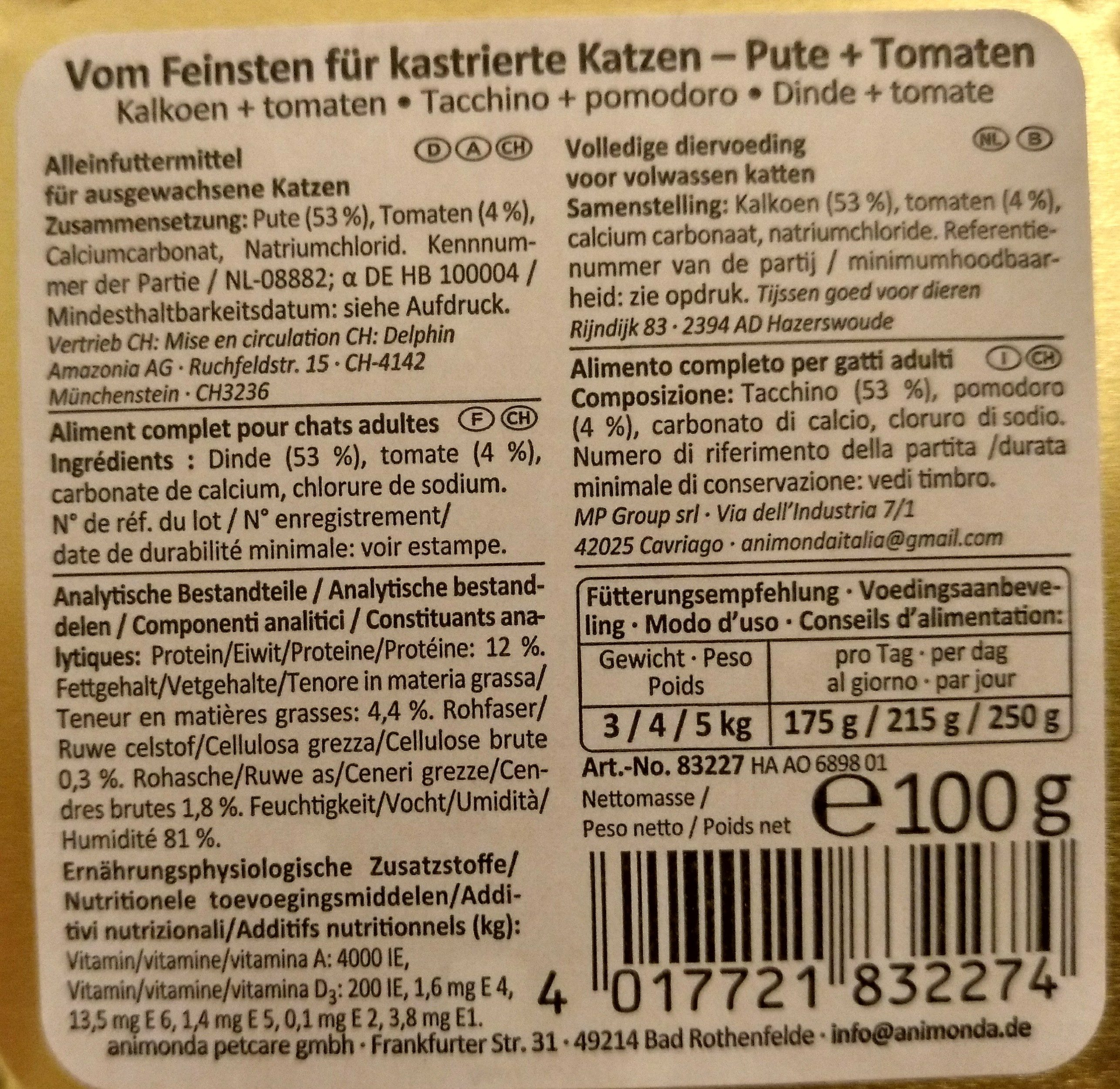 Vom Feinsten - Ingredients - de