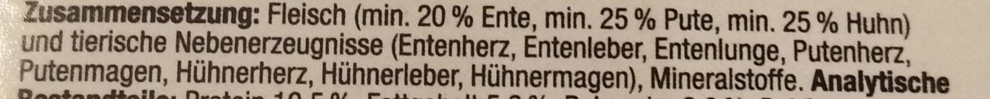 Ente, Pute & Huhn - Ingredients - de