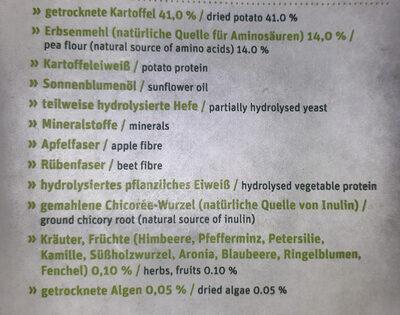 Grainfree mit Kartoffel & Erbse - Ingredients - de