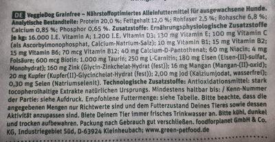 Grainfree mit Kartoffel & Erbse - Nutrition facts - de