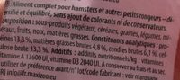 Aliment pour hamster - Ingredients