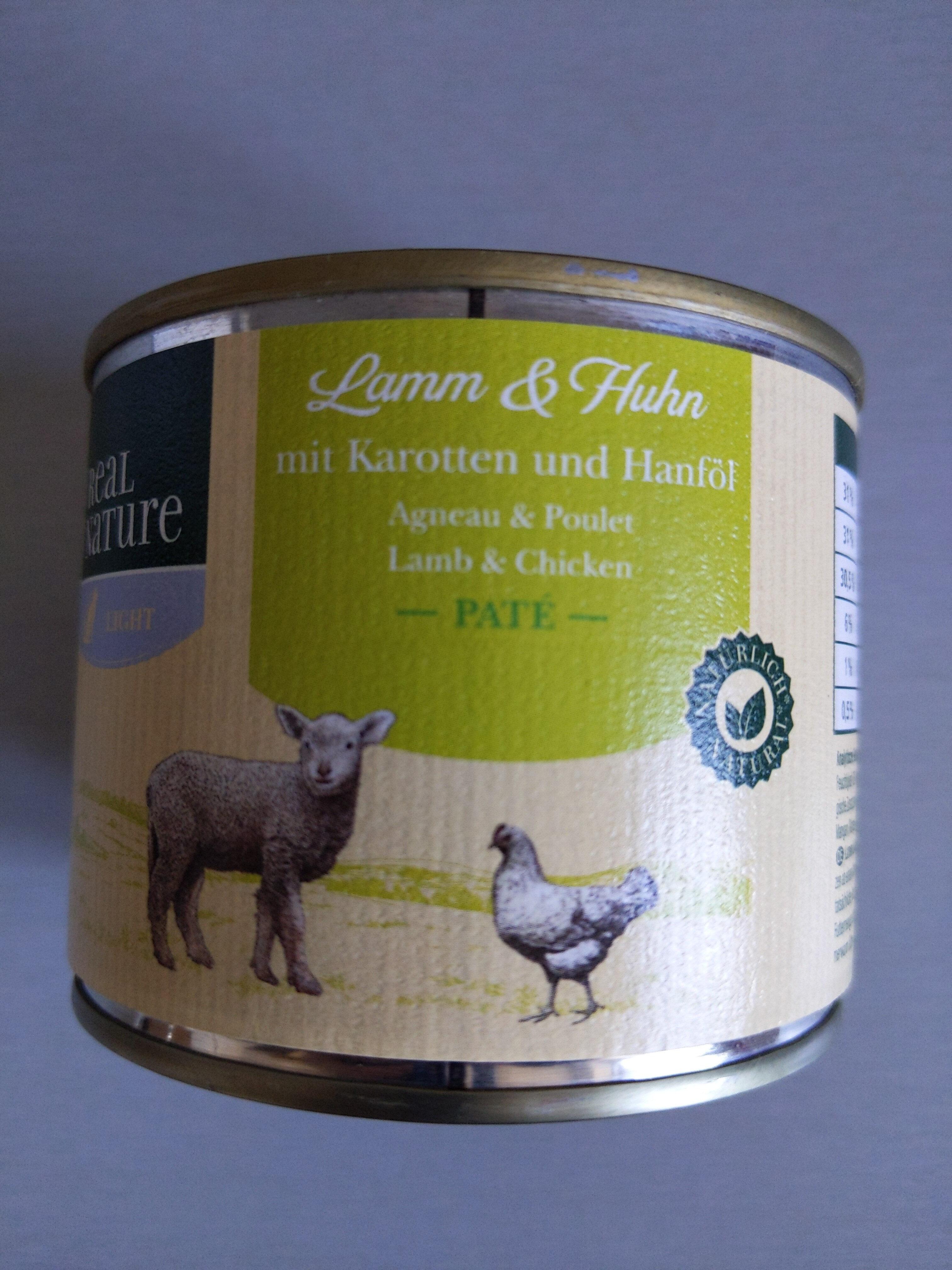 Lamm und Huhn mit Karotten und Hanföl - Product - de