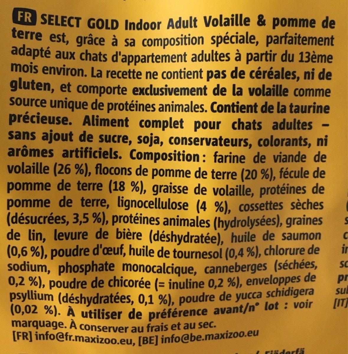Indor - Ingredients - fr