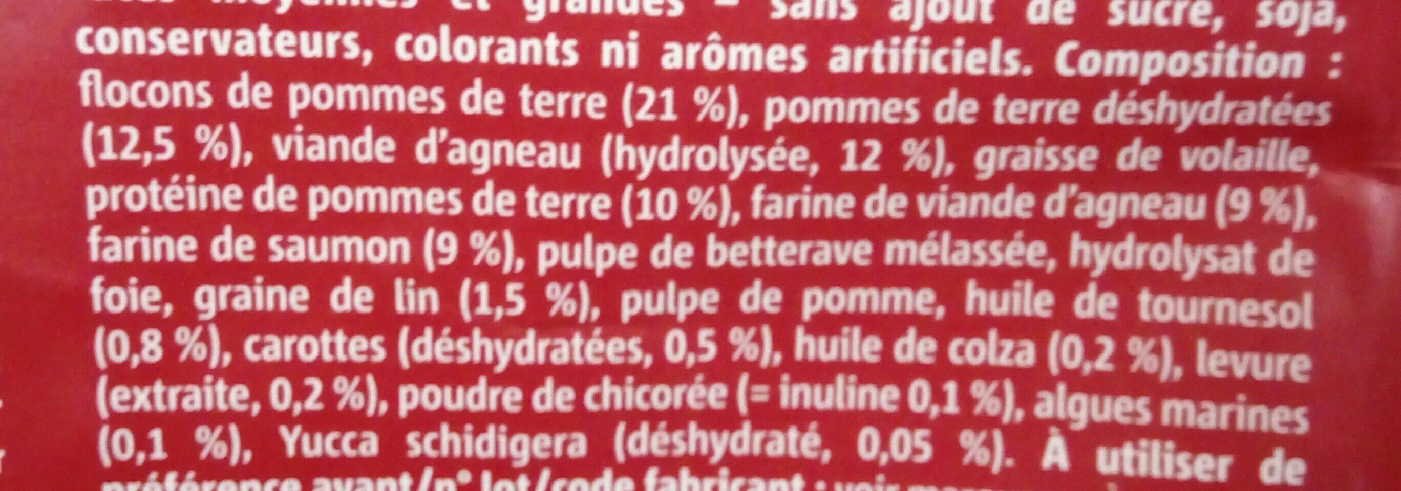 Sensitive médium junior - Ingredients - fr