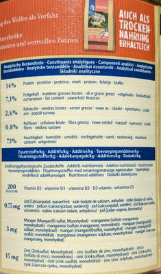 True Country - Nutrition facts - fr