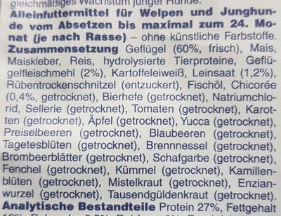 Premiere Junior Geflügel Halbfeucht - Ingredients