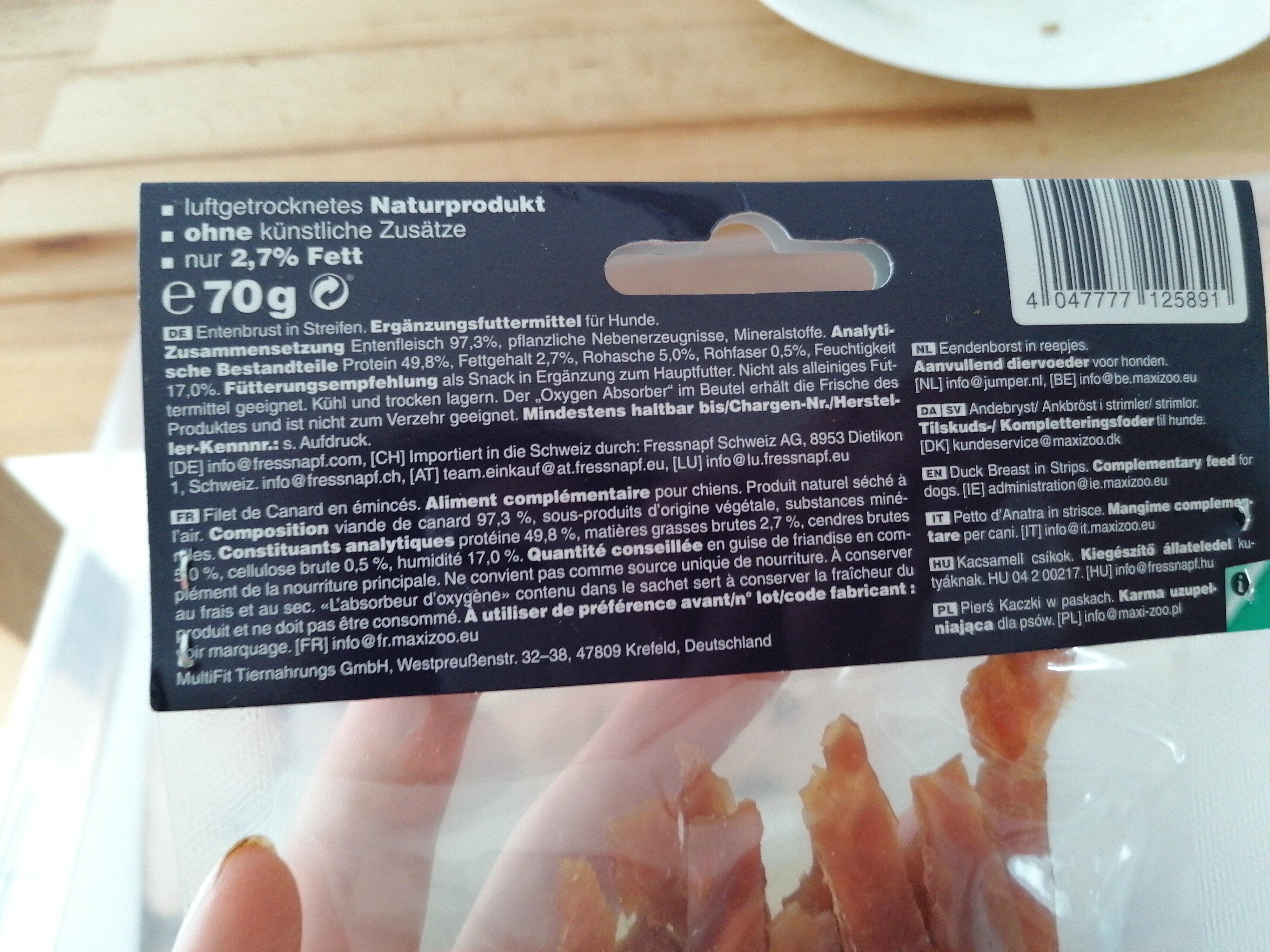 Entenbrust in Streifen - Ingredients - de