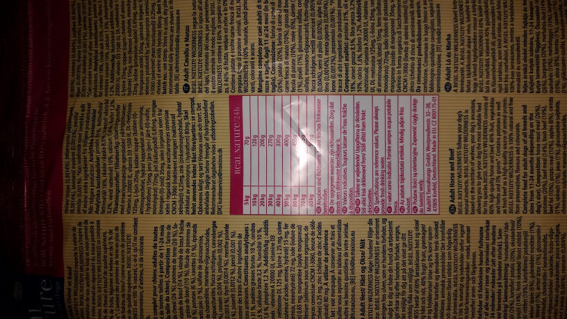 Wild valley - Nutrition facts - fr