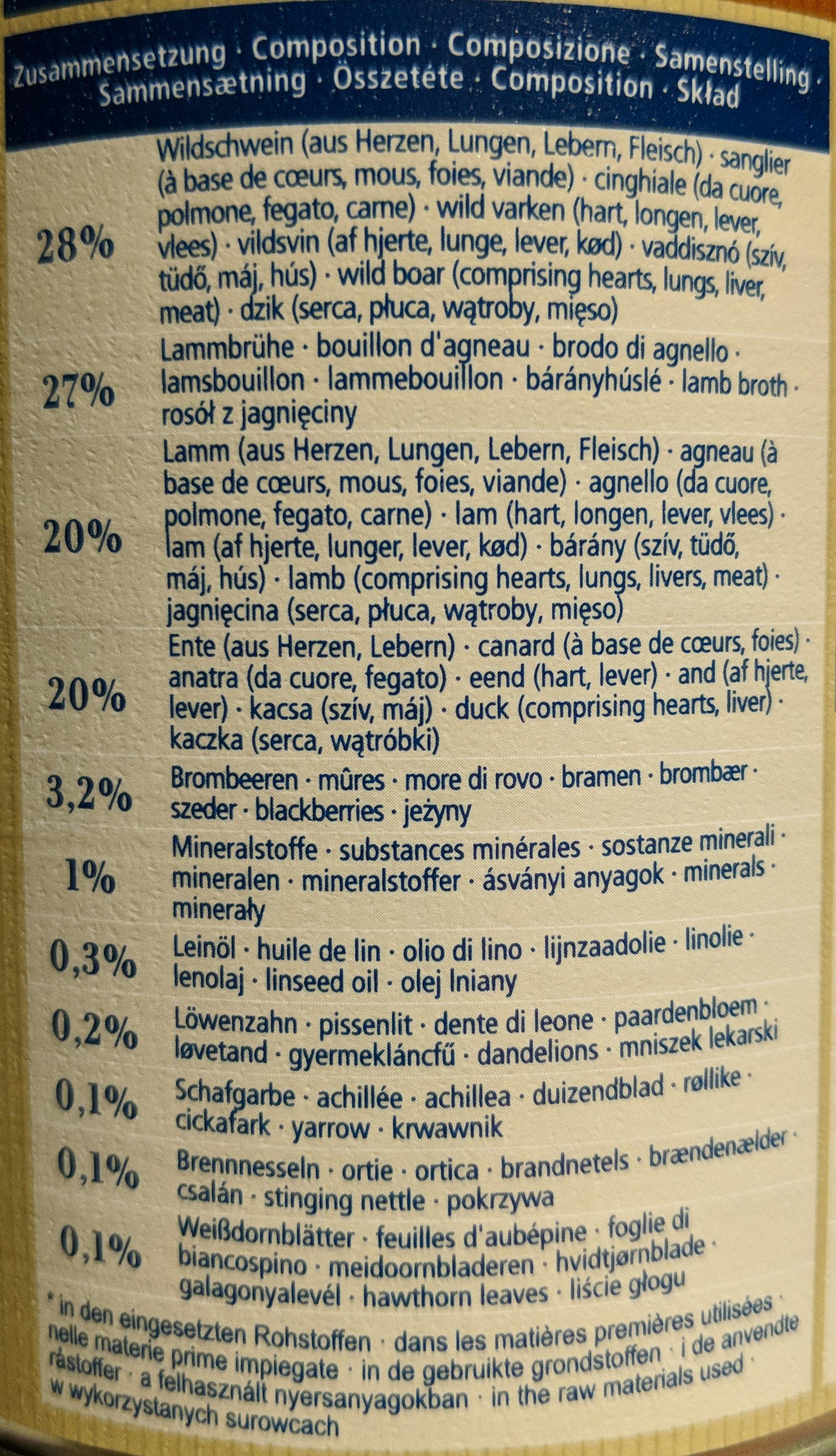 Wide Savannah - Ingredients - fr
