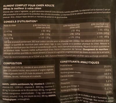 Orlando gourmet - Nutrition facts - fr