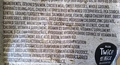 Salmon and Sweet Potato Recipe Dog Food - Ingredients - en