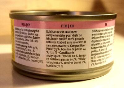 Bubi Nature filet de poulet - Ingredients - fr