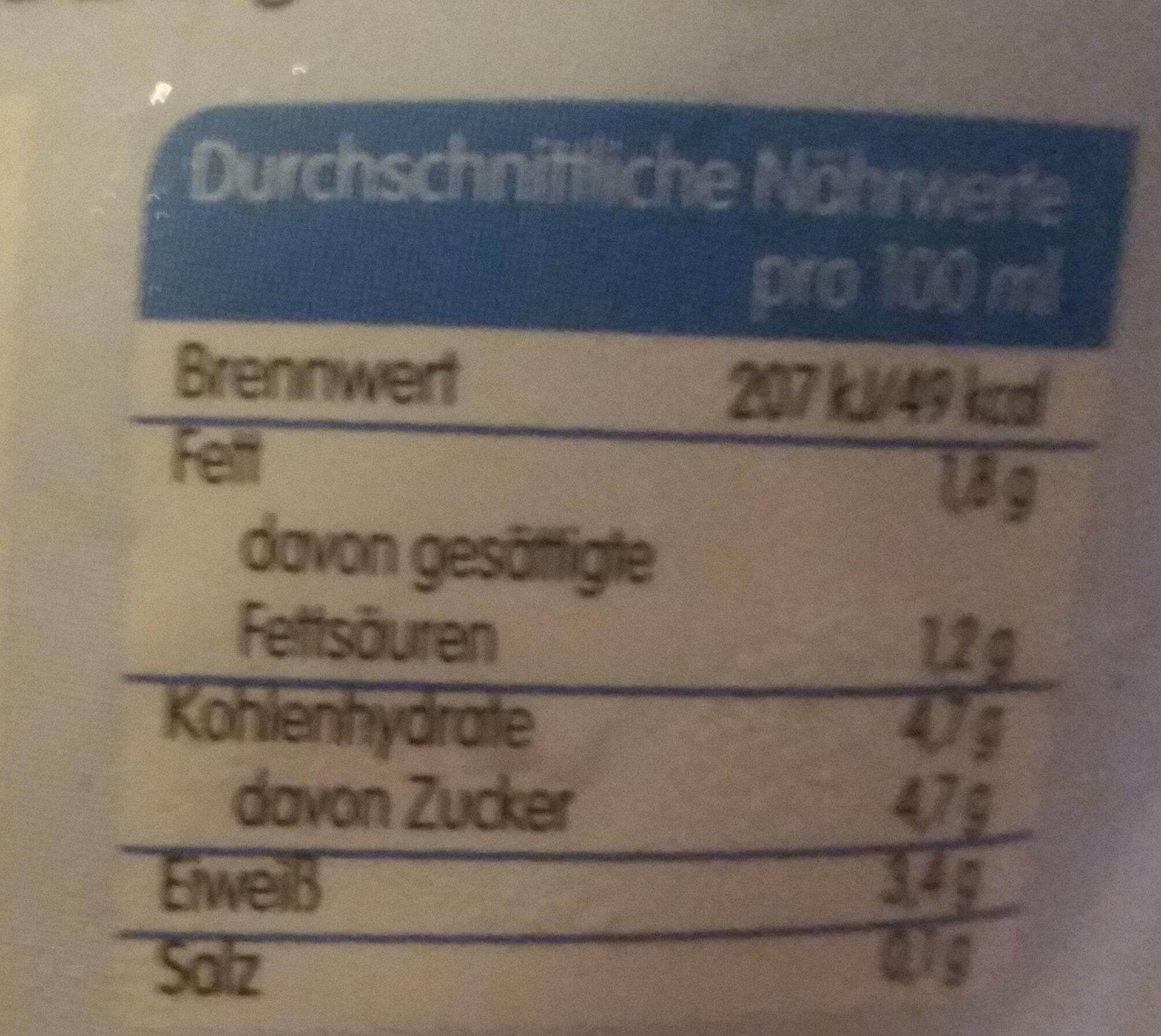 Hemme Milch - Nutrition facts - de