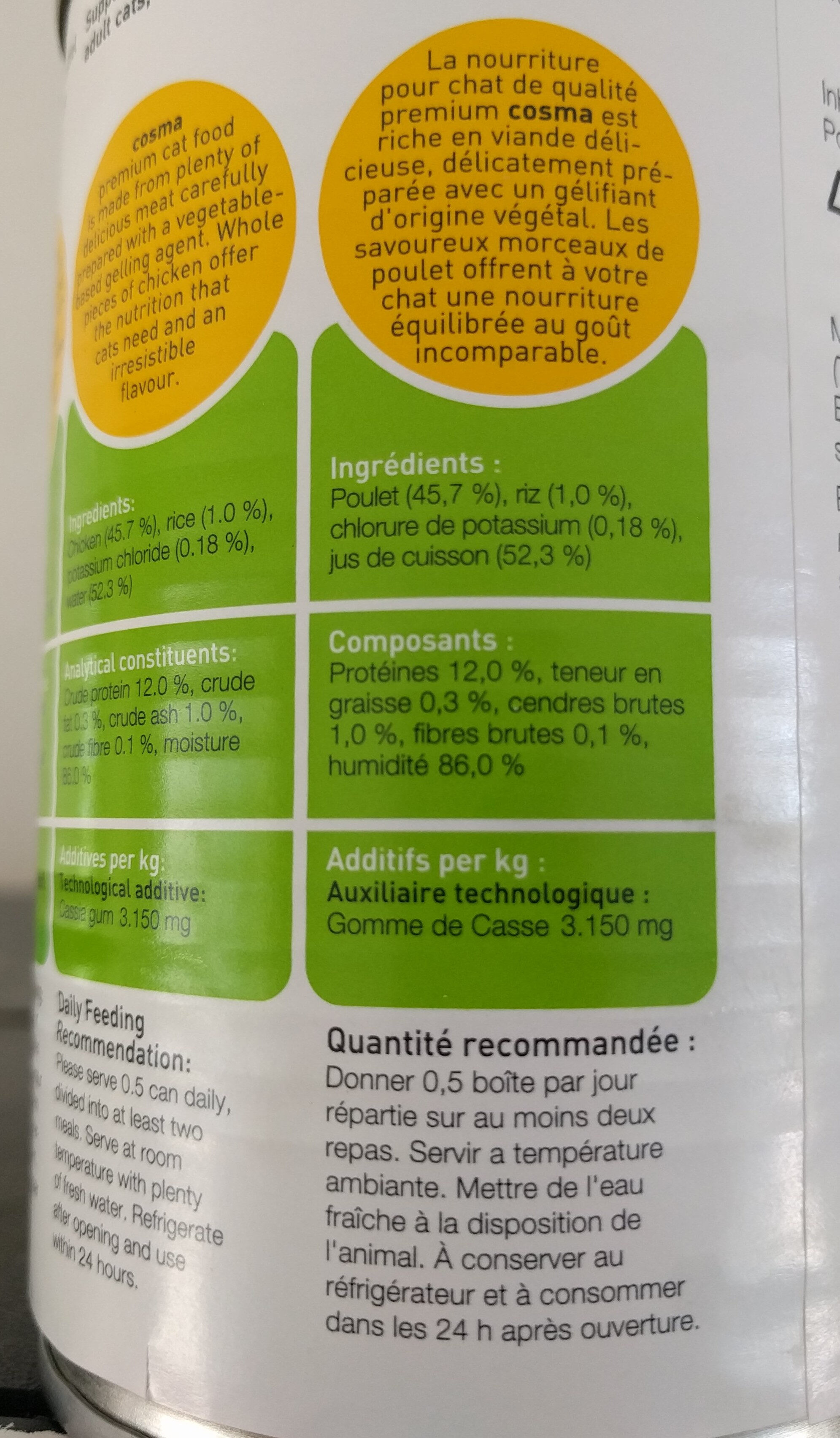 Cosma original poulet en gelée - Ingredients