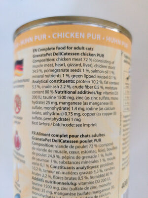 DeliCATessen Chicken Pur - Ingredients
