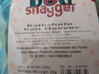 Kalbshufe - Ingredients - de
