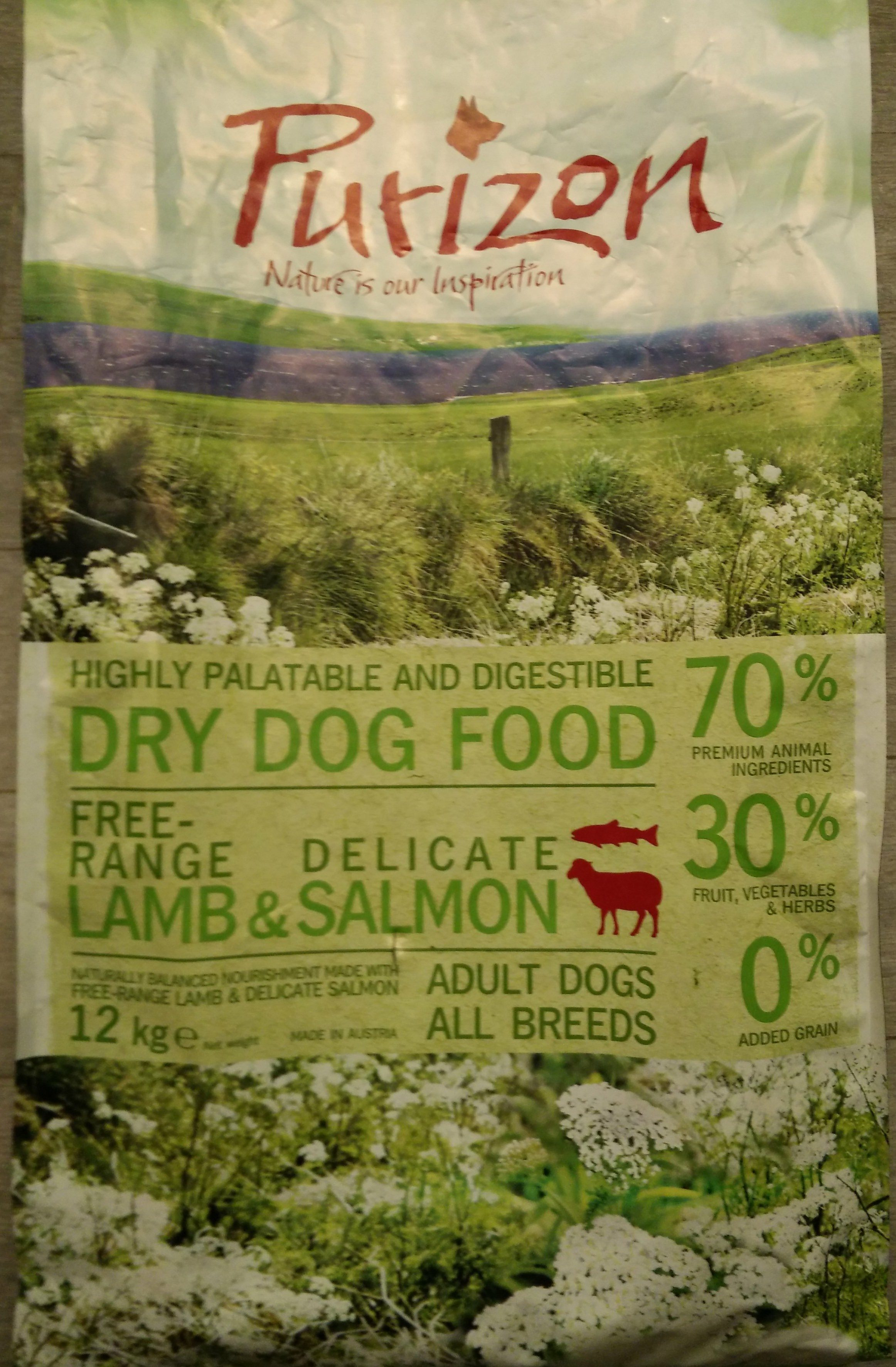 Purizon Lamb & Salmon - Ingredients
