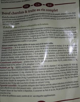 Lukullus bœuf charolais et truite au riz complet - Ingrédients