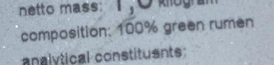 gruener Pansen PFR05 - Ingredients - en