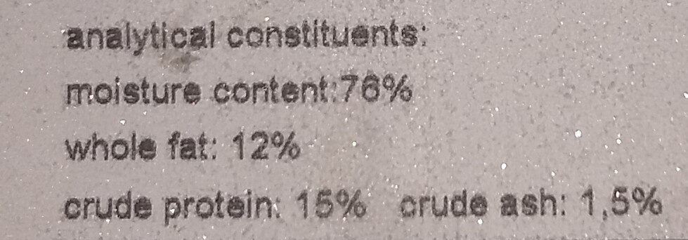gruener Pansen PFR05 - Nutrition facts - en