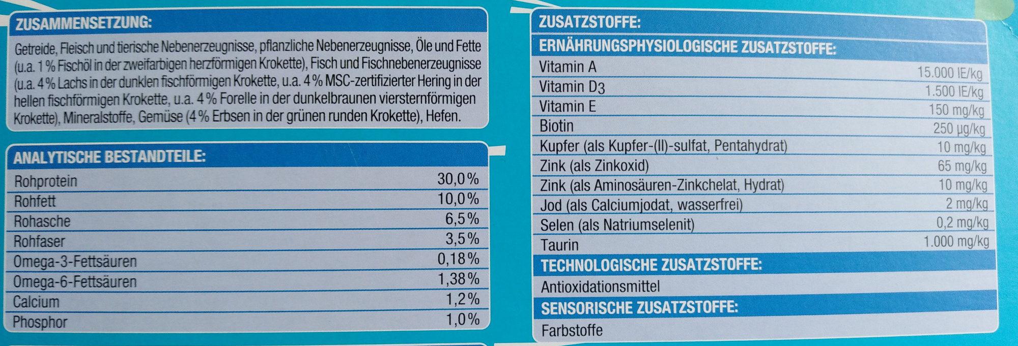 Knuspermenü mit Fisch - Nutrition facts - de