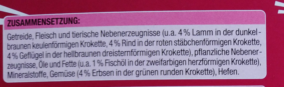 Knuspermenü mit Rind - Ingredients - de