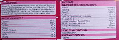 Knuspermenü mit Rind - Nutrition facts