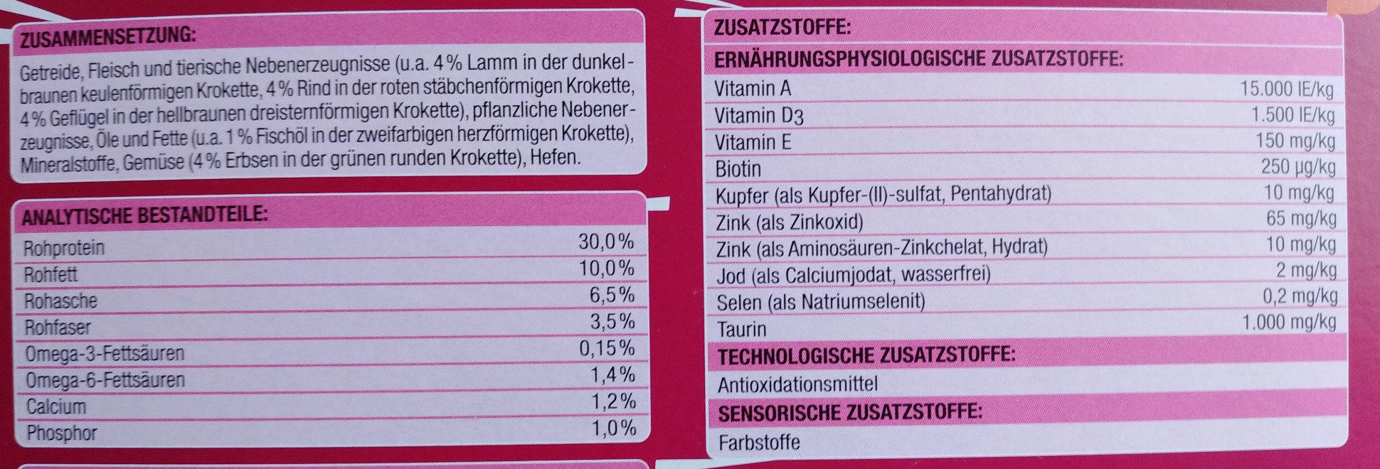 Knuspermenü mit Rind - Nutrition facts - de