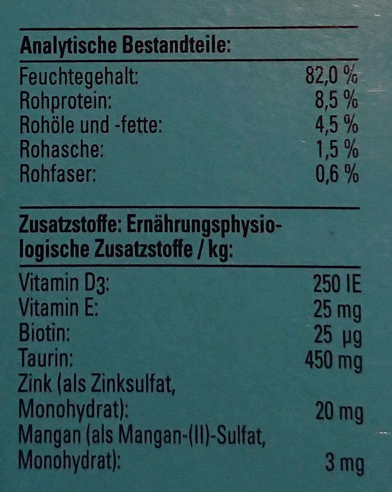 Zarte Häppchen in leckerer Sauce - Nutrition facts - de