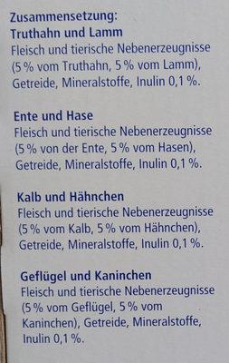 Genießer-Menü verschiedene Fleischsorten in Sauce - Ingredients