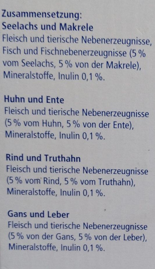 Genießer-Menü verschiedene Sorten in Jelly - Ingredients - de