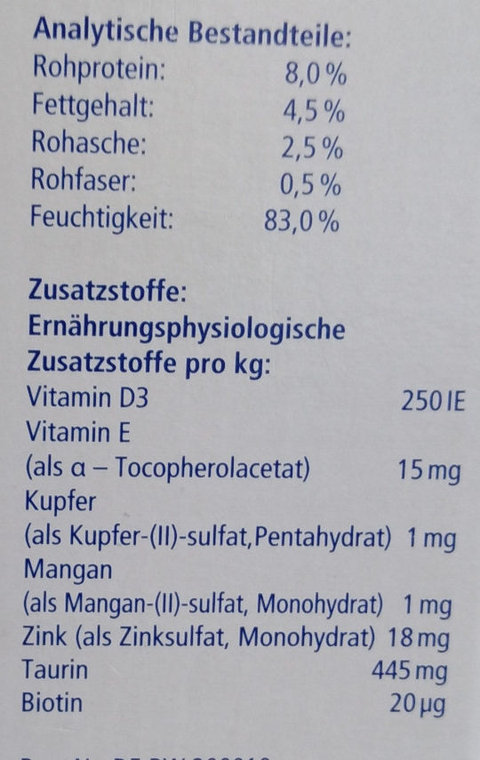 Genießer-Menü verschiedene Sorten in Jelly - Nutrition facts - de
