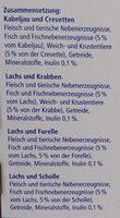 Genießer-Menü verschiedene Fischsorten in Sauce - Ingredients - de