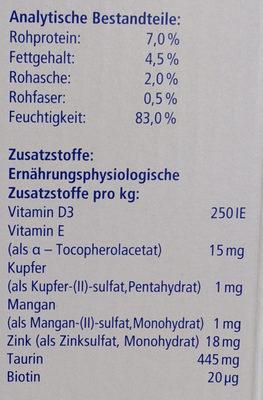 Genießer-Menü verschiedene Fischsorten in Sauce - Nutrition facts - de