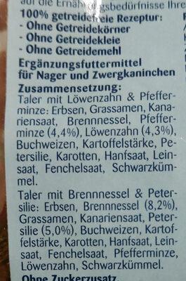 Kräutertaler -getreidefrei- - Ingredients
