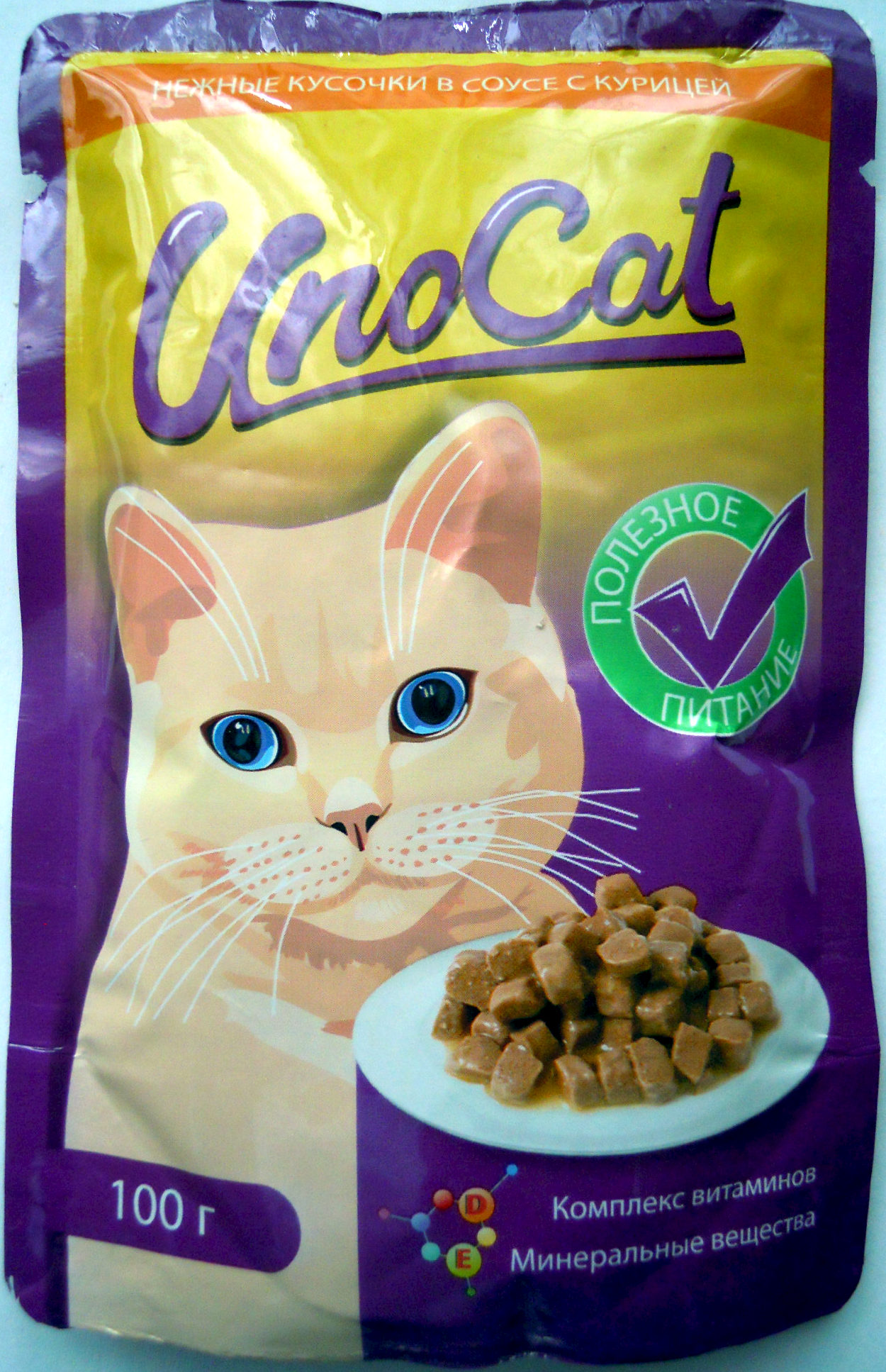 UnoCat нежные кусочки в соусе с курицей - Product