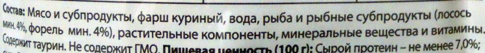 Нежные кусочки в соусе с лососем и форелью - Ingredients - ru