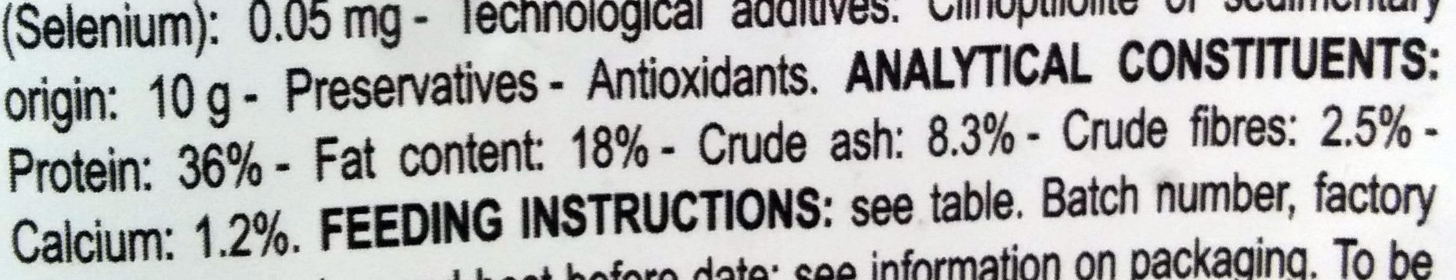 Second Age Kitten - Nutrition facts