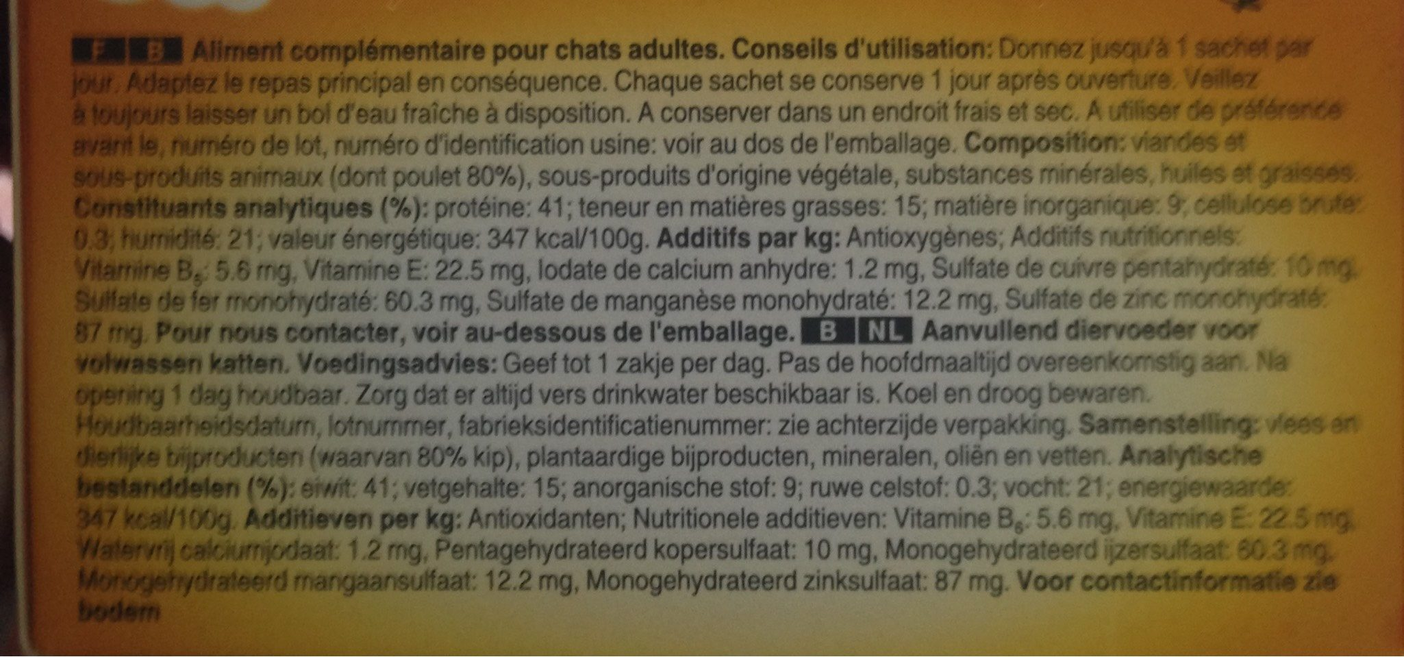 Deli-Catz - Nutrition facts - fr