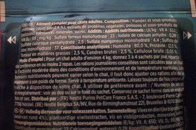 Gourmet Perle Pouch Beef 85G - Ingrédients