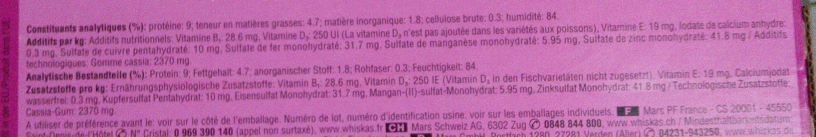 maxi pack selection mixte en gelée - Nutrition facts - fr